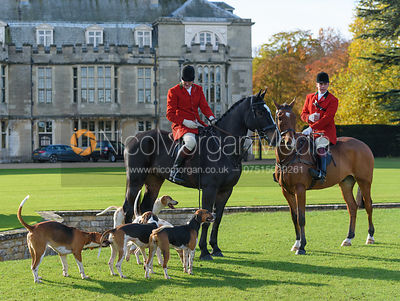 Sir Philip Naylor-Leyland Bt. and Huntsman Simon Hunter at the meet - Fitzwilliam Hunt Opening Meet 2016