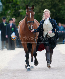 The trot up at the Badminton Horse Trials 2009.