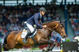 21/07/18, Aachen, Germany, Sport, Equestrian sport CHIO Aachen 2018 - U25 Springpokal,  Image shows Cederic Wolf. Copyright: ...