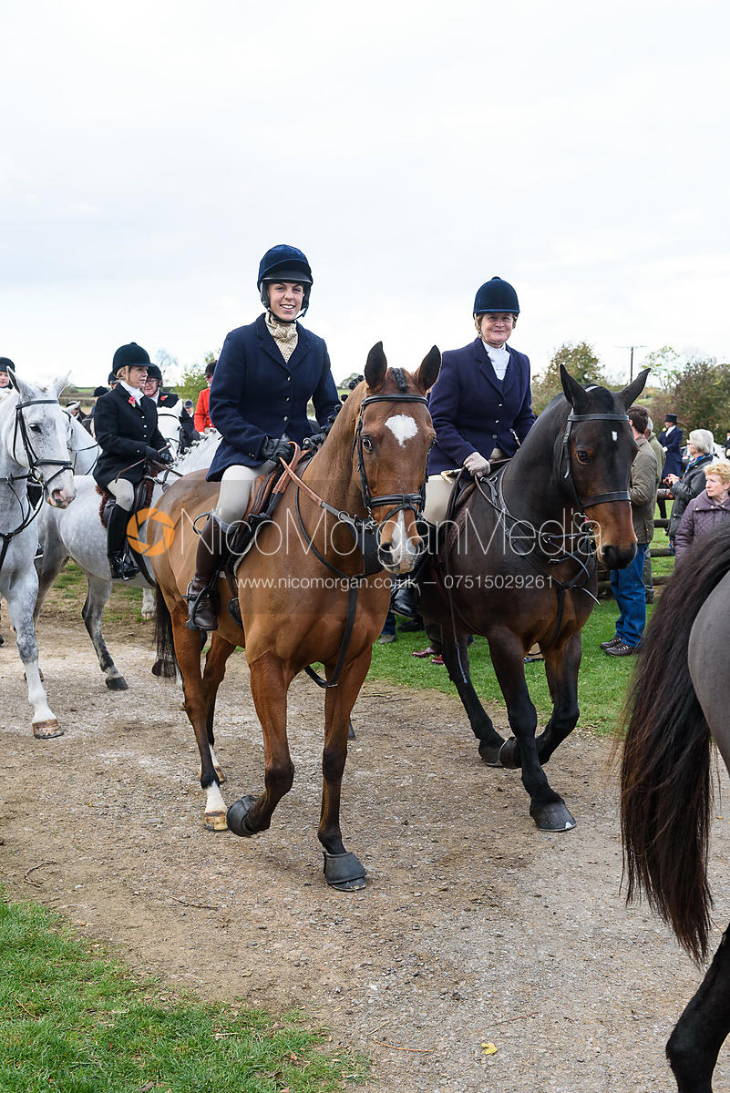 Joanna Hewitt leaving the meet. Quorn Hunt Opening Meet 2018