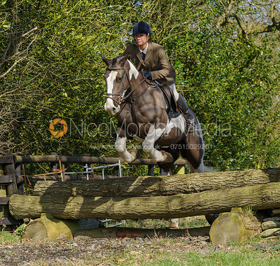 Members of the Quorn Hunt jump a hunt jump