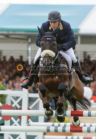 Sam Griffiths and HAPPY TIMES - show jumping phase, Burghley Horse Trials 2013.