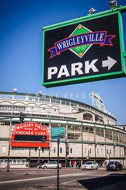 Wrigleyville Sign and Wrigley Field