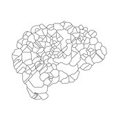 Brain Abstract Islands Outline