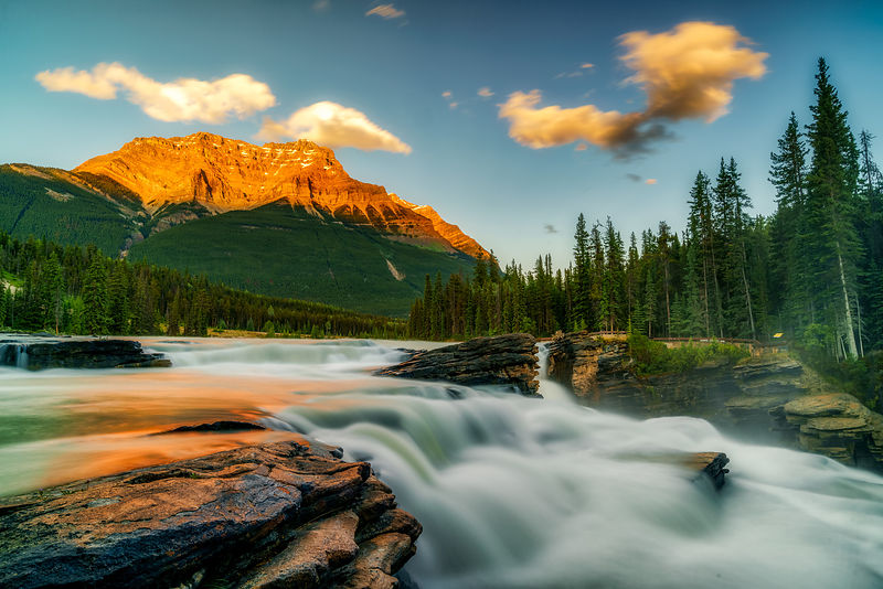 Athabasca Falls Sunset
