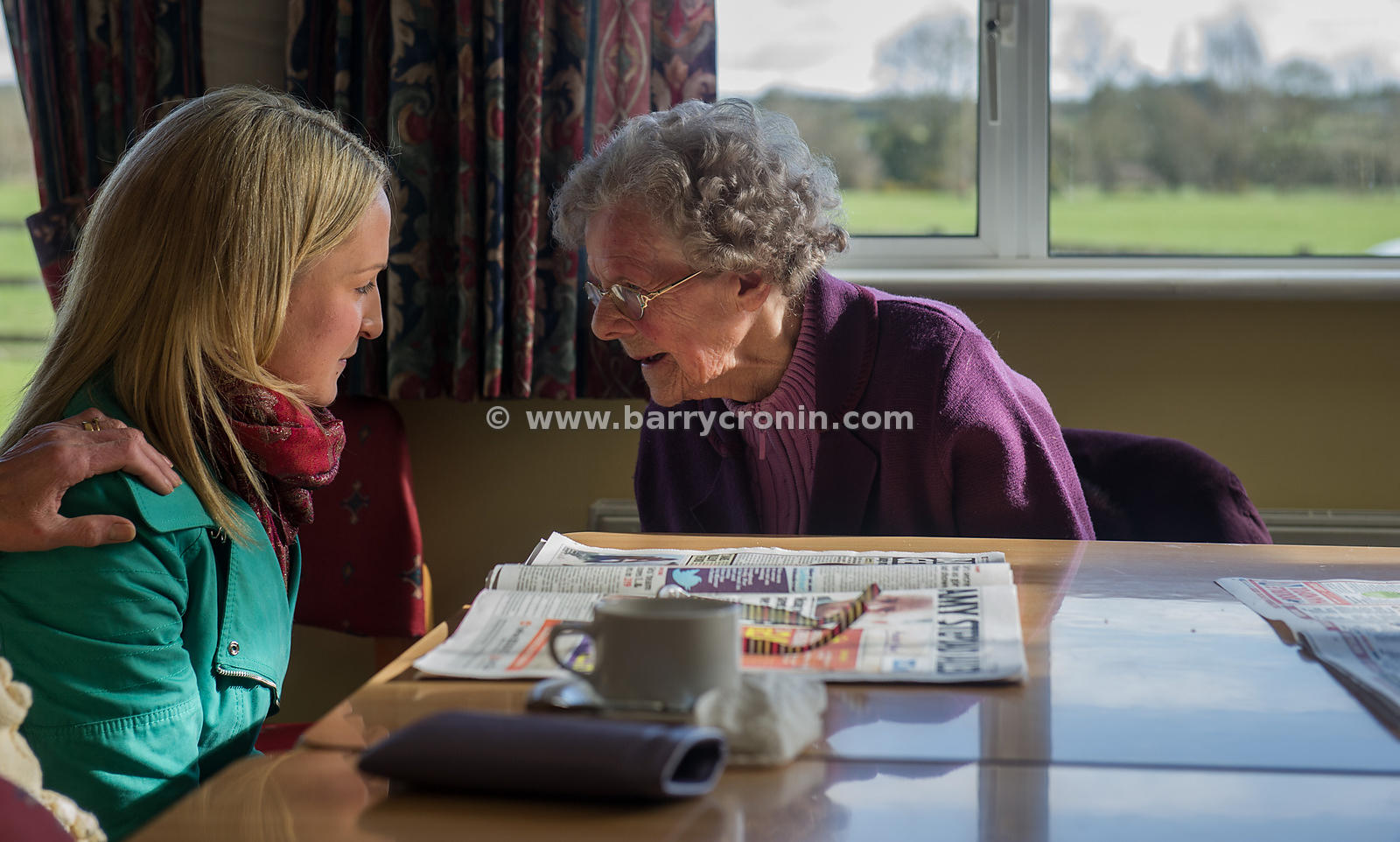 13th March, 2013.Fine Gael's Helen McEntee a candidate in the forthcoming Meath East By-Election speaking with Margaret Lynch...