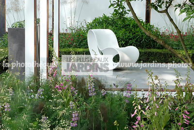 Chair, Contemporary garden, Digital, Garden furniture, Resting area, Terrace, Contemporary Terrace