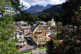 The Village of Sils in the Engadine