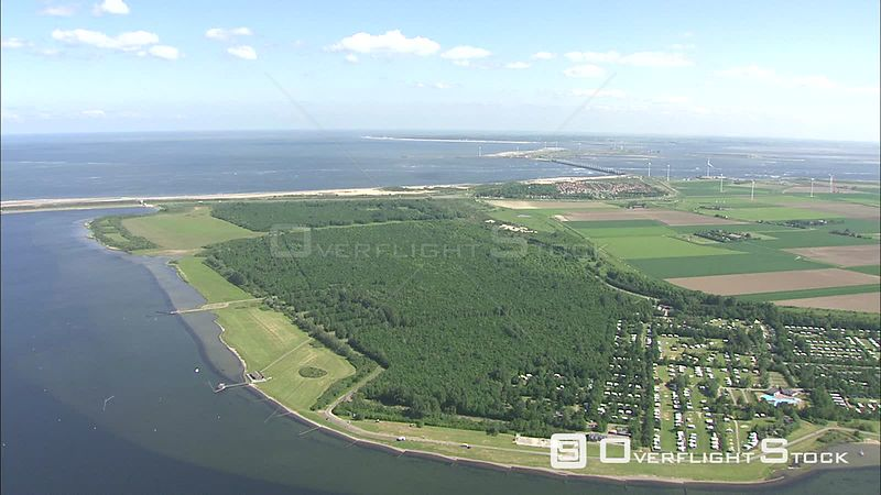 Aerial view of Veere, The Netherlands