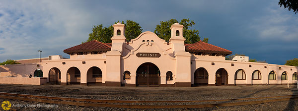 Panorama of the Modesto Railroad Depot #1