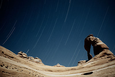 Delicate Arch & Star Trails, Arches National Park, Utah