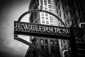 Chicago Jewelers Row Sign in Black and White