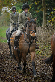 Ned Forryan - The Cottesmore Hunt meet at Oak House, Tilton On The Hill, Saturday 31st October 2015.