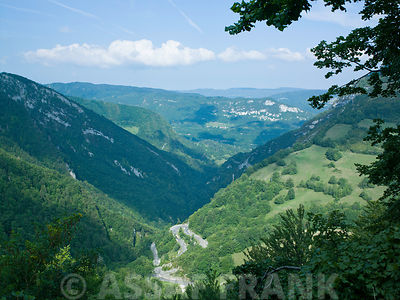 France, Arial view of mountains