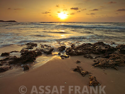 Sunset over Palmachim beach, Israel