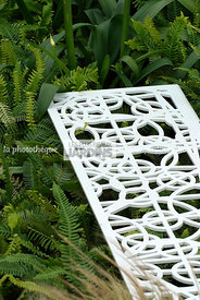 Bench, Contemporary garden, Garden furniture, Iron, Detail, Digital