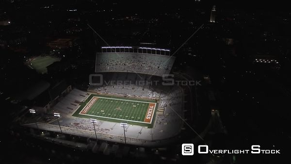 Darrell Royal Texas Memorial Stadium Longhorns Football Austin Drone Video
