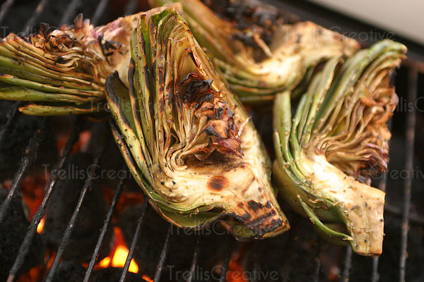 grilled artichoke on the bbq