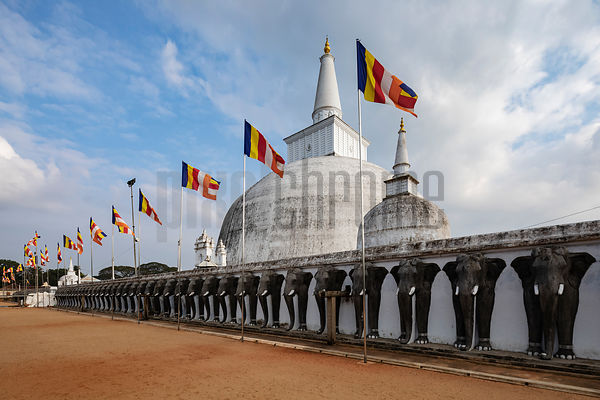 Ruwanweli Maha Seya Stupa with its Plinth of Elephants