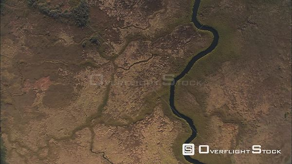 Aerial shot of the Okavango River, near the Okavango Delta Okavango Delta Botswana