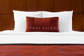 Hotel Room Bed and Pillows