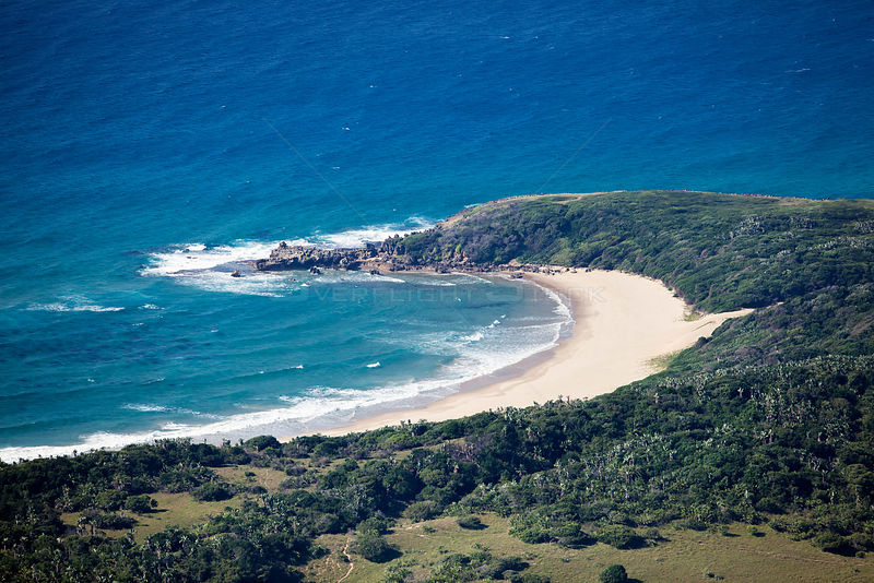 Aerial Photograph of Kosi Bay, KwaZulu-Natal Province, South Africa; Indian Ocean. June 2010