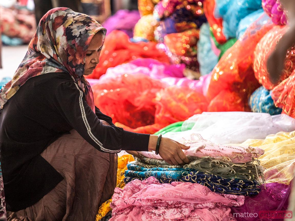 The colors of Kashgar bazaar, Xinjiang, China