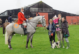 David Ford (mounted) and family at the meet - Bedale at Tunstall, Catterick
